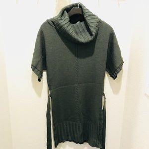 Dark Olive Cowl Neck Sweater Dress!
